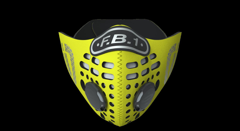 FB-1 Mask - Flo Yellow