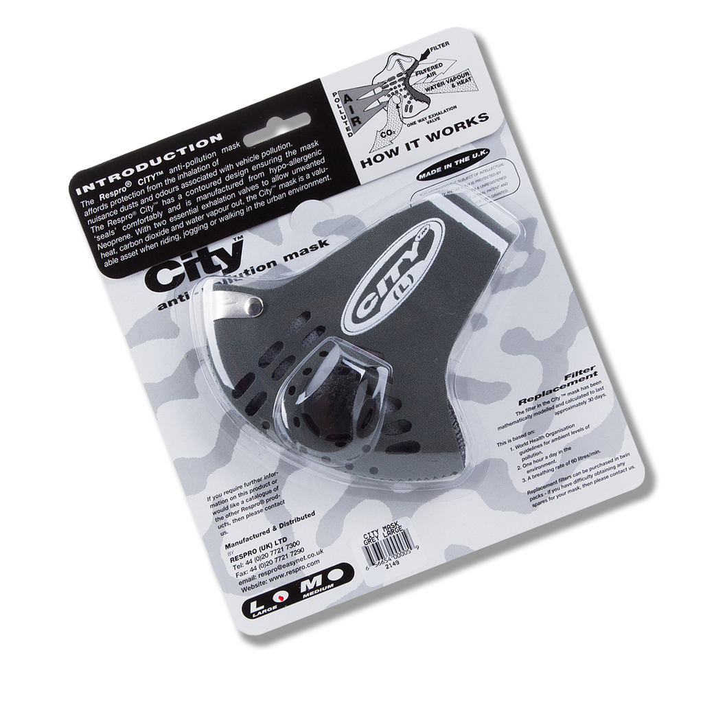 CITY MASK GREY PACKAGED