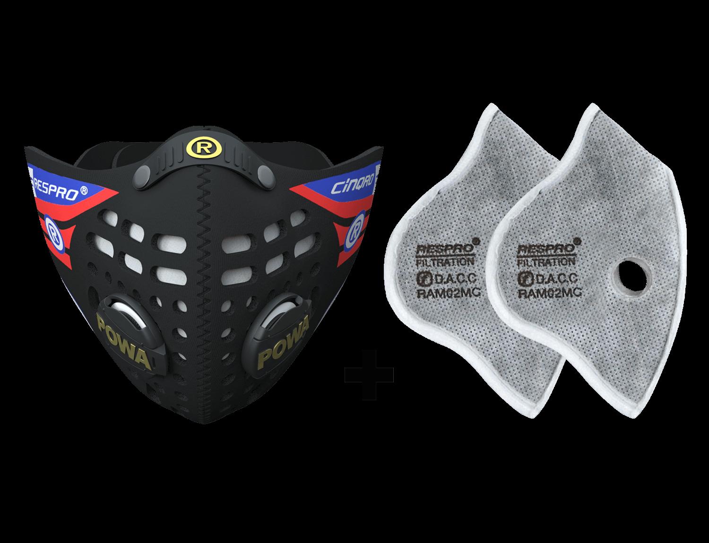 Combo Kit Cinqro™ Mask plus Urban Filter - Black