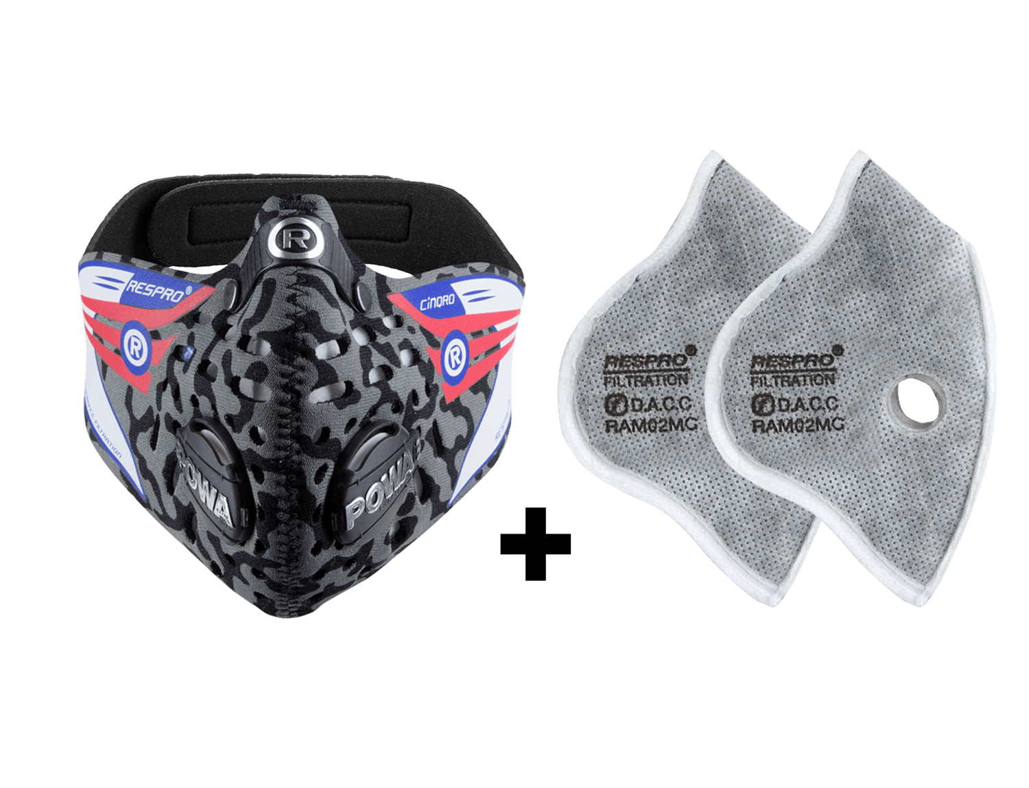 Combo Kit Cinqro™ Mask plus Urban Filter - Camo