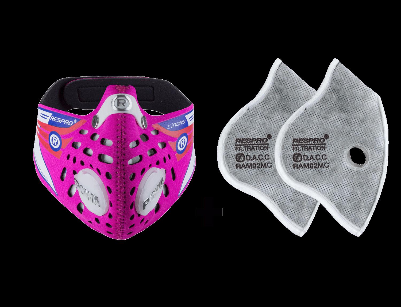 Combo Kit Cinqro™ Mask plus Urban Filter - Pink