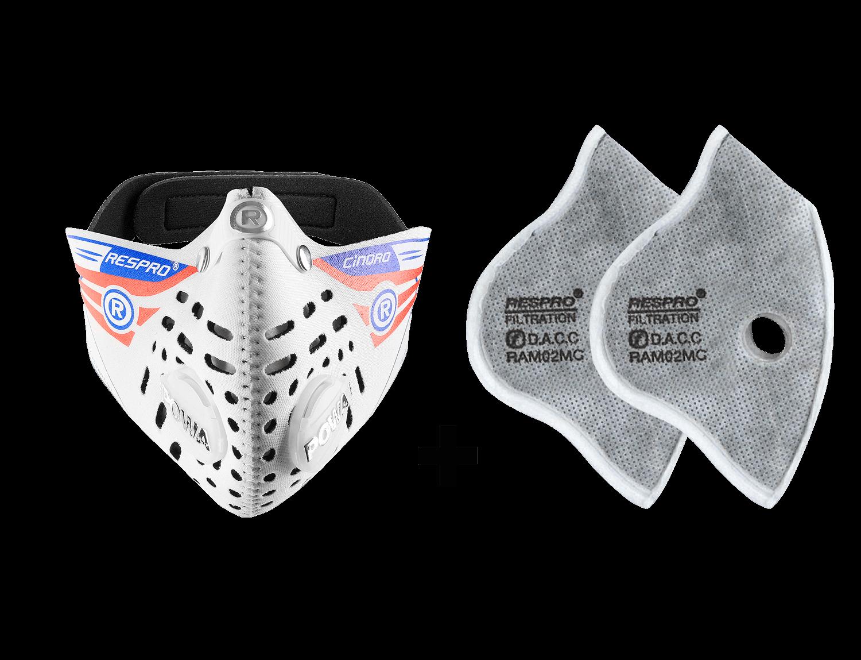 Combo Kit Cinqro™ Mask plus Urban Filter - White