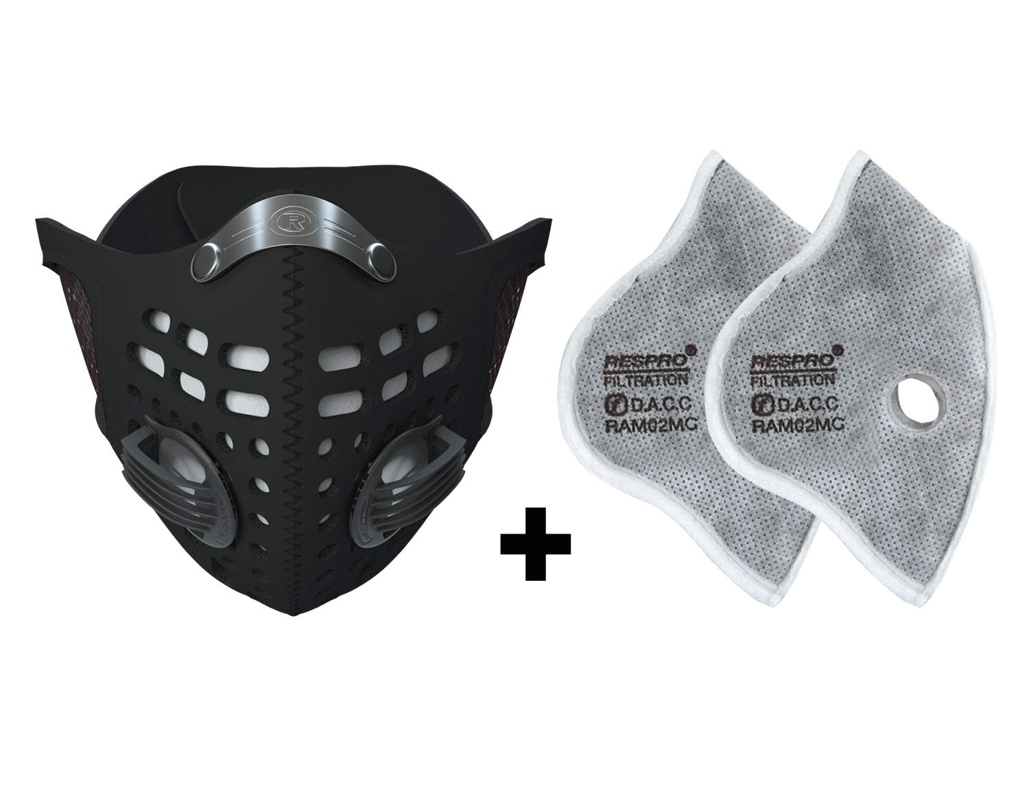 Combo Kit Sportsta™ Mask plus Filter - Black