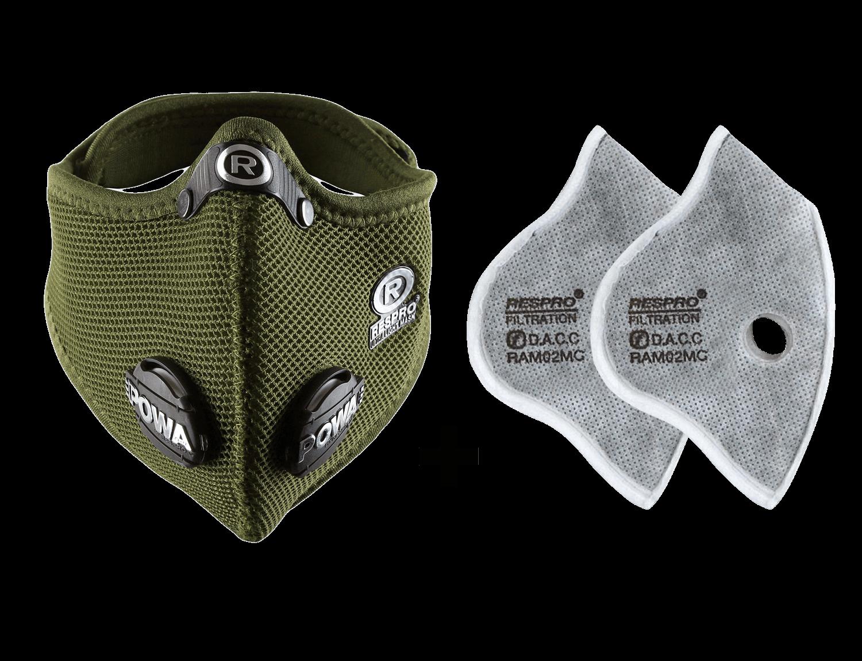 Combo Kit Ultralight™ Mask plus Urban Filter - Olive Green